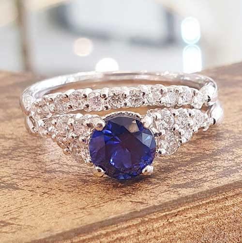 Gispandiamonds Engagement Ring Set