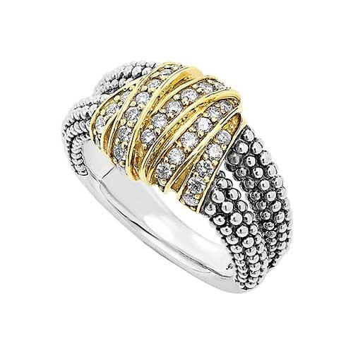 LAGOS Diamonds & Caviar Ring