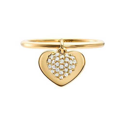 Michael Kors Cubic Zirconia Pavé Heart Ring