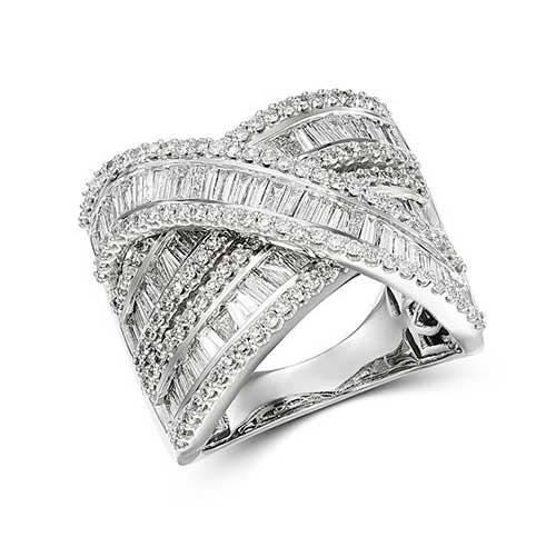 Bloomingdale's Diamond Baguette Statement Crossover Ring