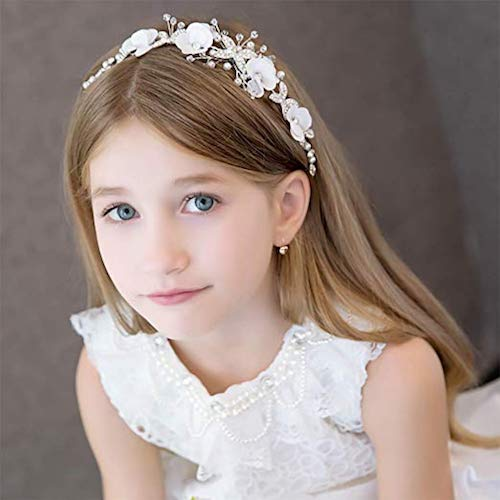 Campsis White Flower Pearl Headband