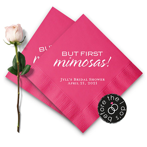 But First Mimosas! Personalized Napkins