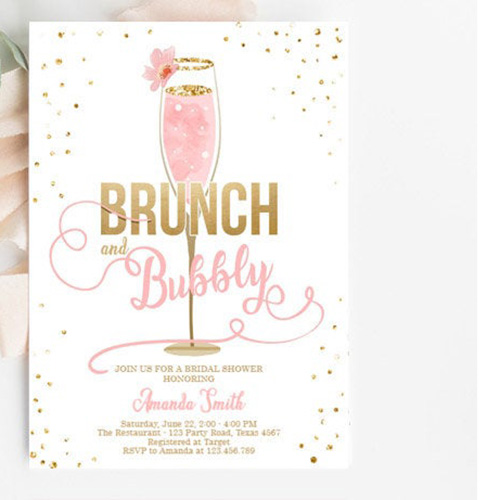 Brunch and Bubbly Bridal Shower Invites
