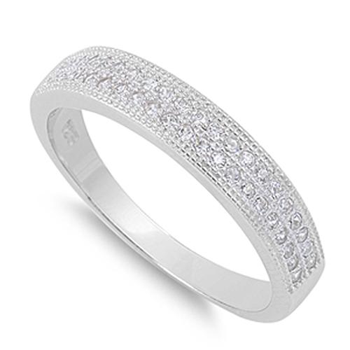 Sac Silver White CZ Ring