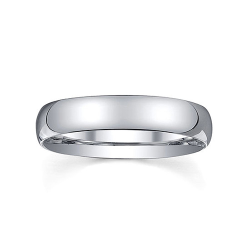 Silver Domed Wedding Ring