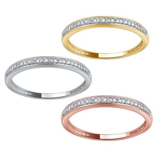 Divina 10K Gold Diamond Wedding Band