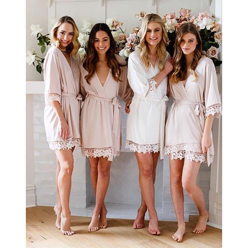 Le Rose Gifts Lace Bridal Robe