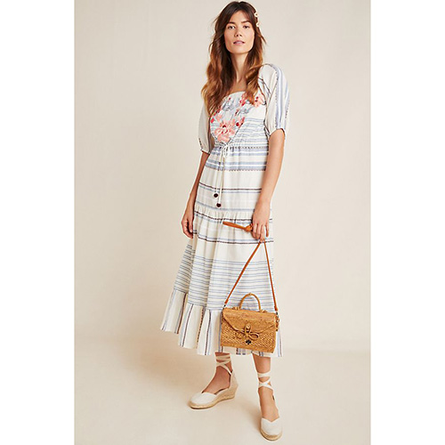 Alain Striped Midi