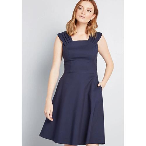 Retro Direction A-Line Dress