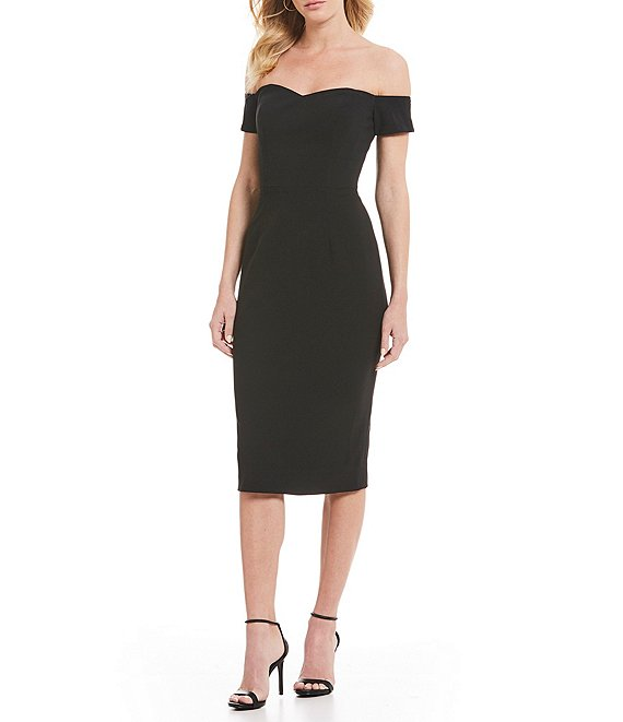 Dress the Population Bailey Off-the-Shoulder Midi Sheath