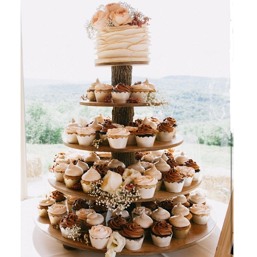 Works of Woods Rustic 5-Tier Cupcake Stand
