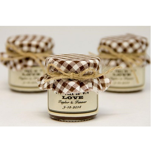Custom Love Gifts Rustic Mini Mason Jar Wedding Favors With Label