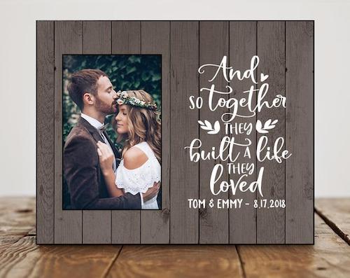 Fieldtrip Wedding Photo Frame