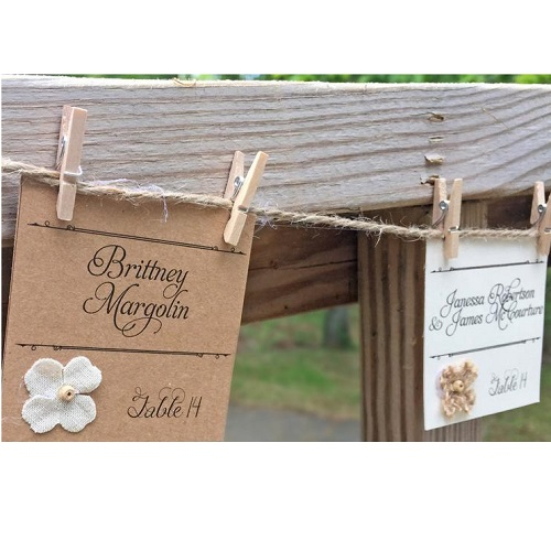 Whisker Kisses Designs Rustic Place Cards