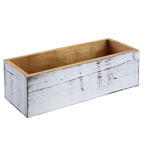 Whitewashed Wood Box by ArtMinds