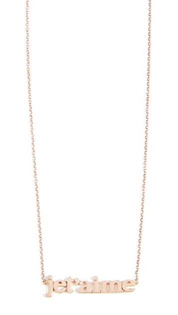 Jennifer Meyer Jet'aime Necklace