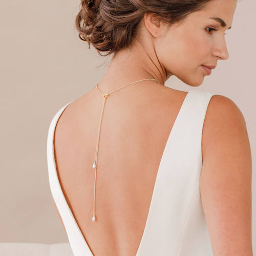 Britten Weddings Pearl Back-Drop Necklace