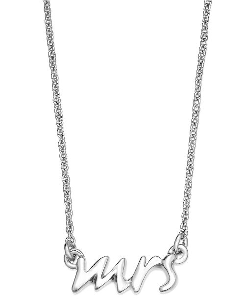 Kate Spade Mrs. Pendant Necklace