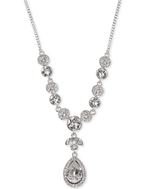 Givenchy Multi-Crystal Y-Necklace