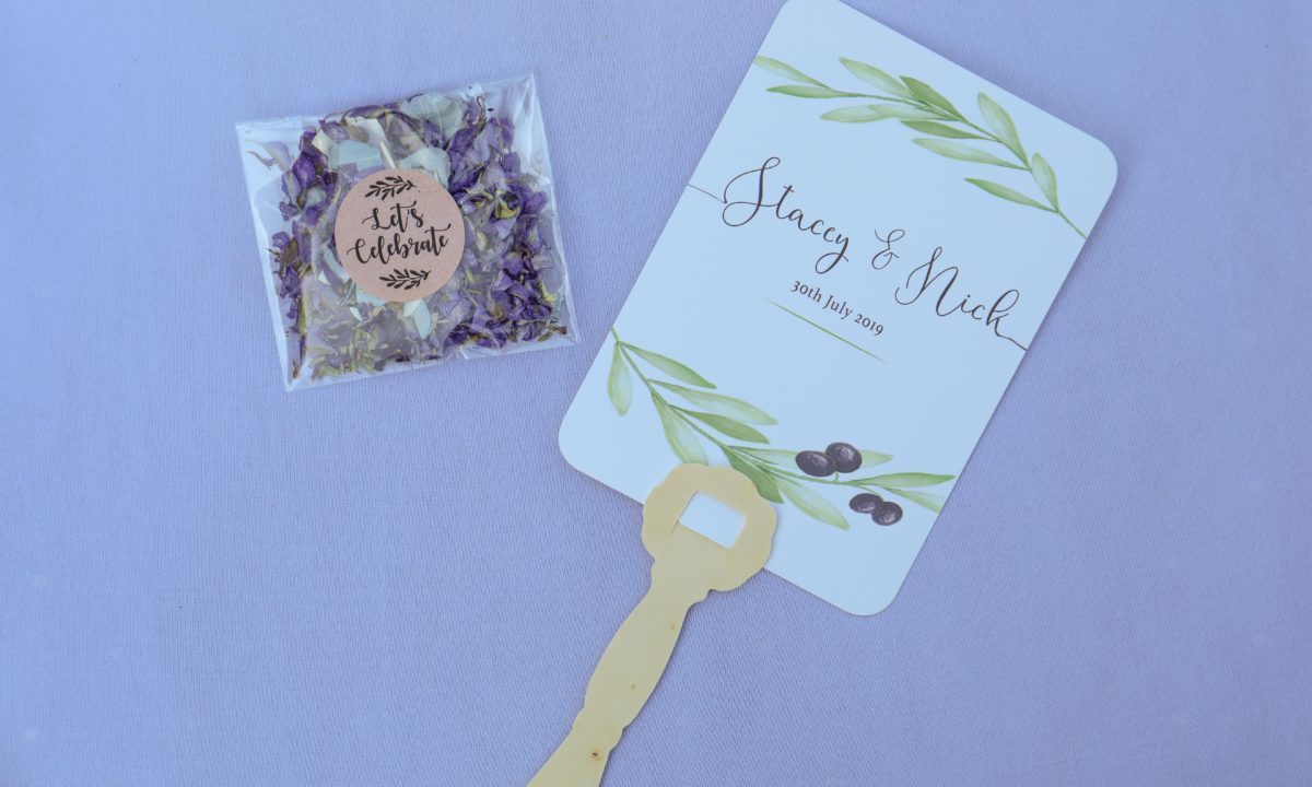 Extra-Bright Paper Goods for Your Wedding