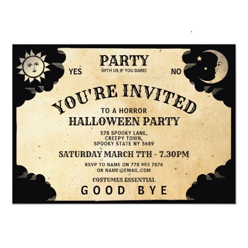 Halloween Ouija Board Invite