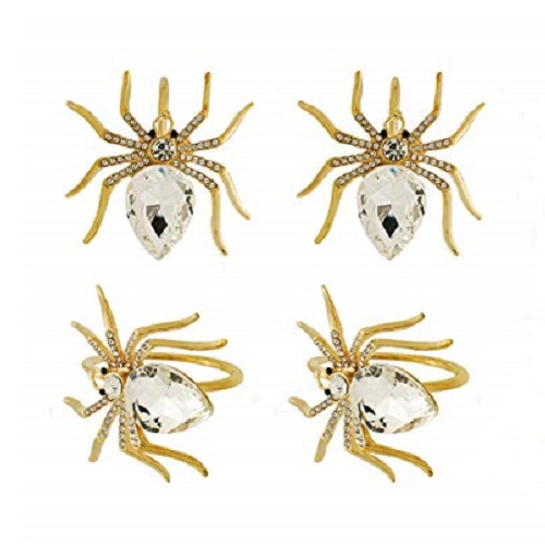 Lureen Gold Spider Napkin Rings