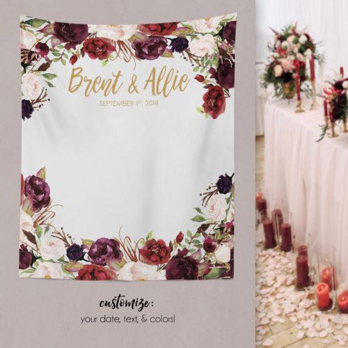 Paper Ramma Marsala Wedding Backdrop