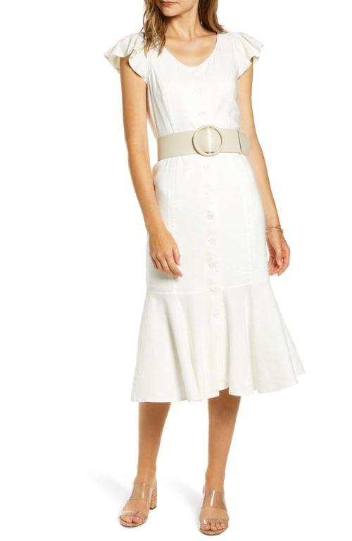 Rachel Parcell Button-Down Midi-Dress
