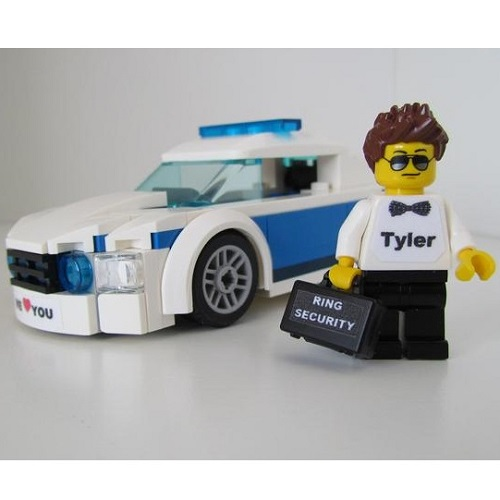 Personalized Ring Bearer LEGO Figure and Car