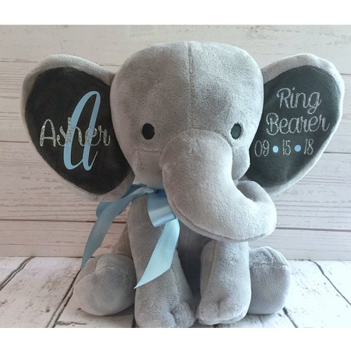 Rose and Lily Boutique Personalized Elephant