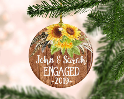 Holiday Engagement Ornament