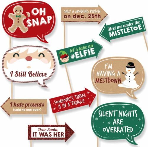 Holiday & Christmas Party Photo Booth Props