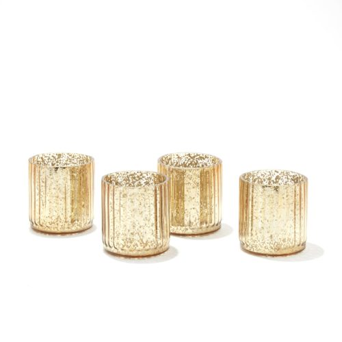 LampLust Mercury Glass Candle Holders