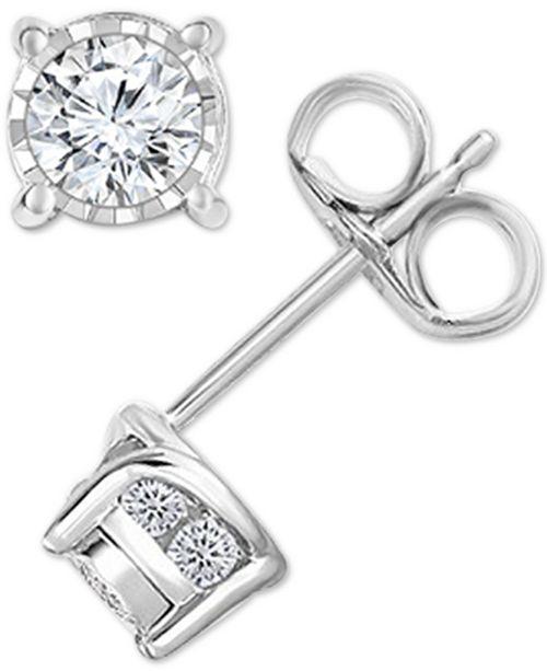 TruMiracle Diamond Stud Earrings