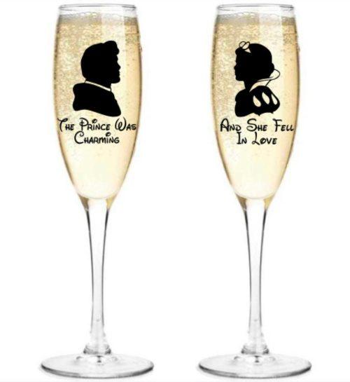 Solo Graphics Shop Snow White Champagne Flute