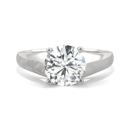 Forever One 1-7/8 Carat White Gold Band