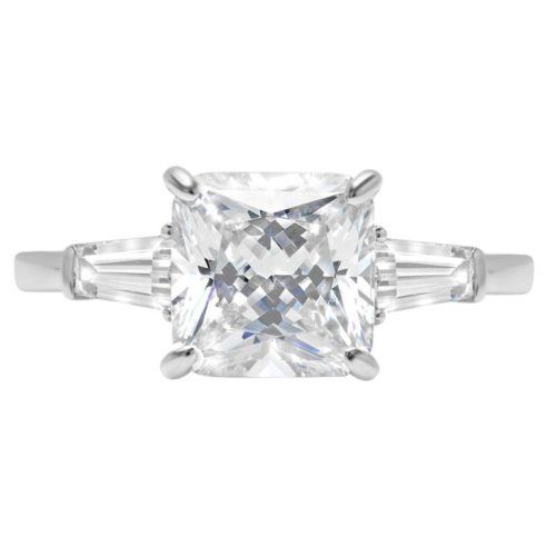 Clara Pucci Simulated Baguette Solitaire