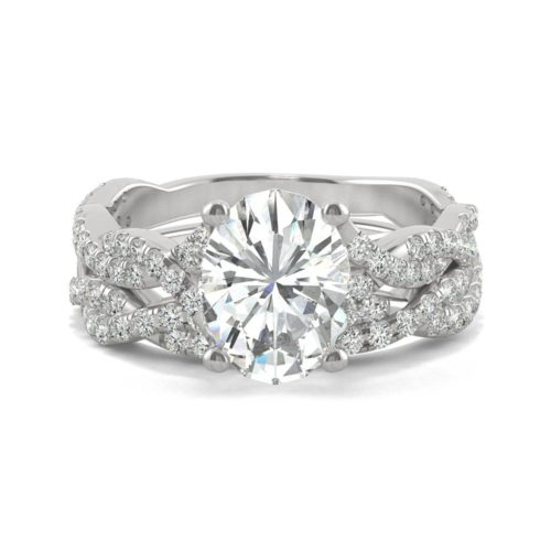 Forever One 14 Karat White Gold Wide Band