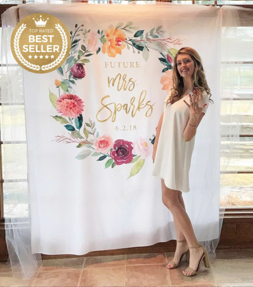 Engagement Party Photo Booth Backdrop