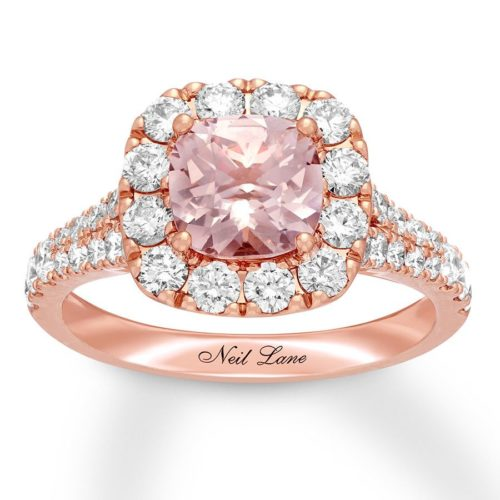 Neil Lane Diamond and Rose Gold Band