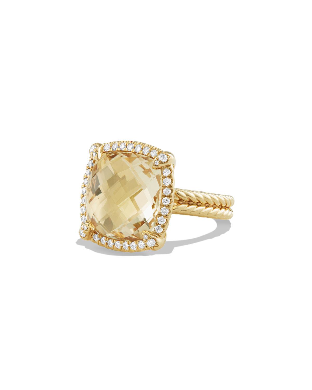 David Yurman Châtelaine Champagne Citrine Band With Diamonds