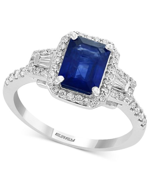 EFFY Collection Sapphire and Diamond Engagement Ring