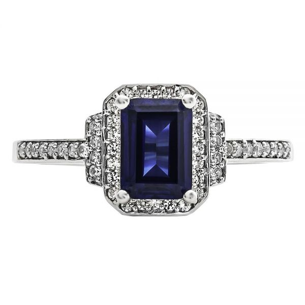 Sapphire and White Gold Ring