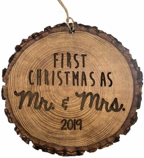 Rustic Marriage Ornament