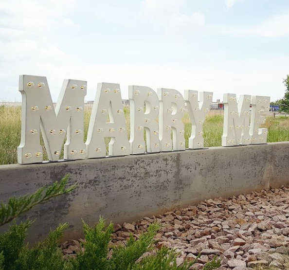 Marry Me Light-Up Sign