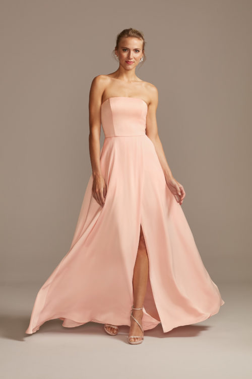 Crepe-Back Satin Dress