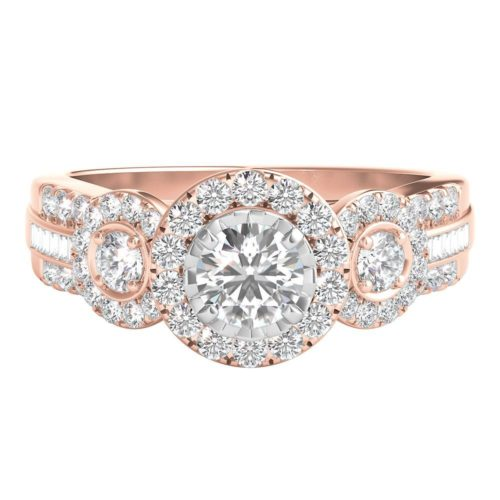 1-Carat Diamond and Rose Gold Band