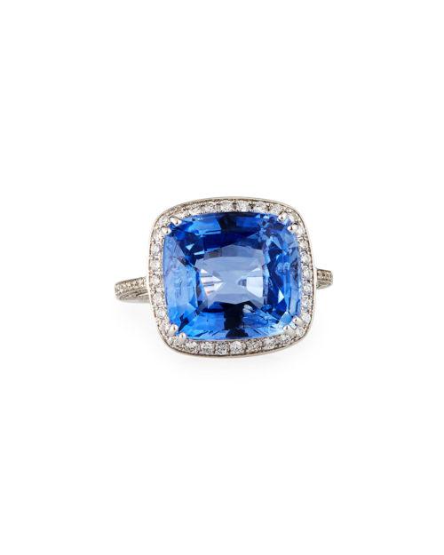 Alexander Laut Blue Sapphire Cushion Style