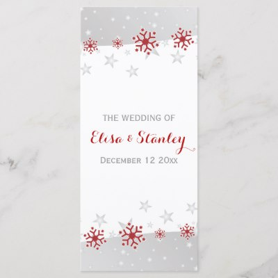 Modern Red and Gray Snowflakes Program
