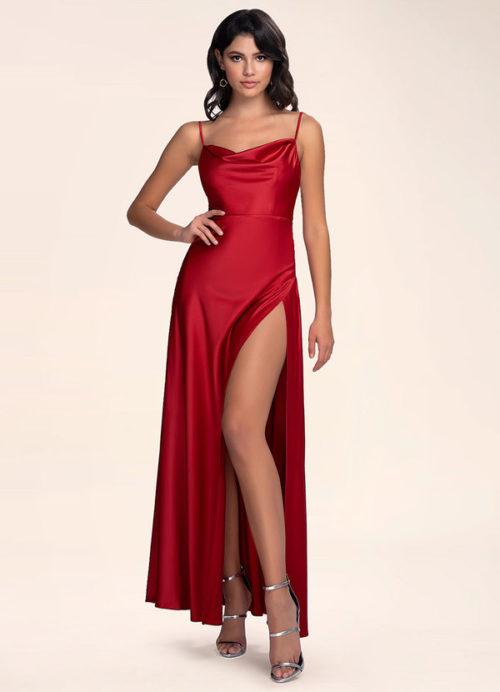 Azazie Be Mine Raspberry Maxi Dress